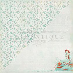 Authentique Sea-Maiden skräppipaperi Mermaid