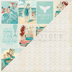 Authentique Sea-Maiden skräppipaperi Cut-Apart 3