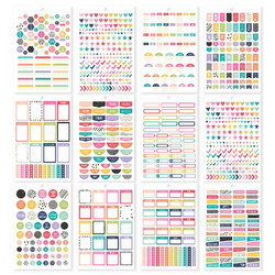 Simple Stories Carpe Diem Planner Basics -tarrat, A5, 944 kpl