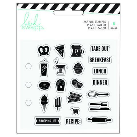 Heidi Swapp Memory Planner leimasinsetti Fresh Start, Food