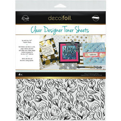 Deco Foil Clear Toner Sheets, Floral Sketch