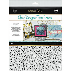 Deco Foil Clear Toner Sheets, Branching Out
