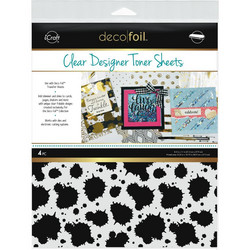 Deco Foil Clear Toner Sheets, Splatter