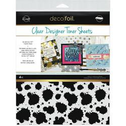 Deco Foil Clear Toner Sheets, Splatter