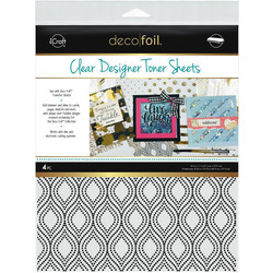 Deco Foil Clear Toner Sheets, Groovy
