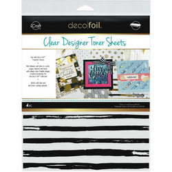 Deco Foil Clear Toner Sheets, Distressed Lines