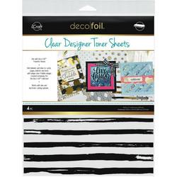 Deco Foil Clear Toner Sheets, Distressed Lines