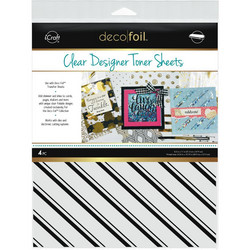 Deco Foil Clear Toner Sheets, Pinstripes