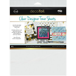 Deco Foil Clear Toner Sheets, Printable