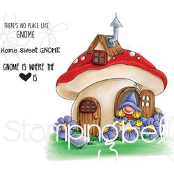 Stamping Bella kumileimasin Gnome Home