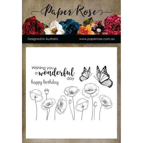 Paper Rose -leimasinsetti Poppies