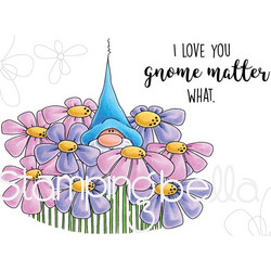 Stamping Bella kumileimasin Gnome Bouquet