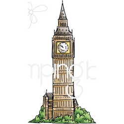 Stamping Bella kumileimasin Rosie and Bernie's Big Ben