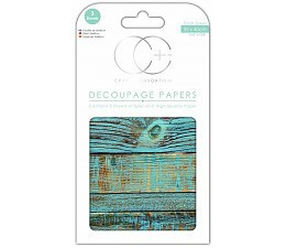 Craft Consortium Blue Brushed Wood -decoupage paperi