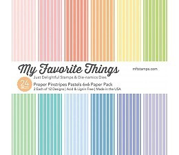My Favorite Things Proper Pinstripes Pastels -paperikko