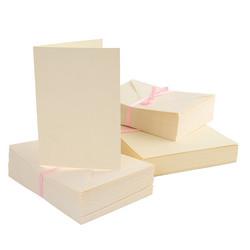 Anita's A6 korttipohja ja yhteensopiva kirjekuori, kerma, 100 kpl