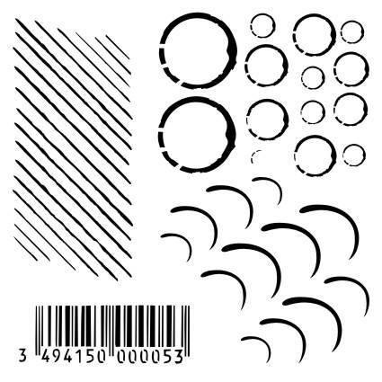 13@rts Mixed Media sapluuna Barcode