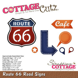 CottageCutz stanssi Route 66 Road Signs