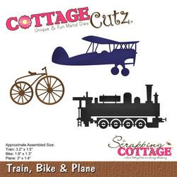 CottageCutz stanssi Train, Bike & Plane