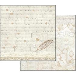 Stamperia skräppipaperi Score & Feather