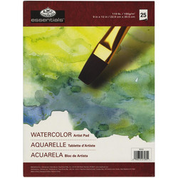 essentials Watercolor Artist -paperipakkaus, 25 arkkia