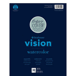 Strathmore Vision Cold Press Watercolor -paperipakkaus, 30 arkkia