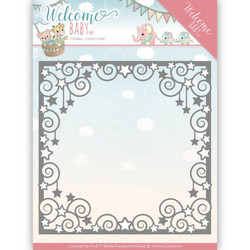Yvonne Creations Welcome Baby stanssi Star Frame