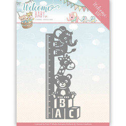 Yvonne Creations Welcome Baby stanssi Growth Chart