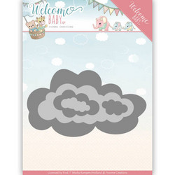 Yvonne Creations Welcome Baby stanssisetti Nesting Clouds