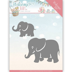 Yvonne Creations Welcome Baby stanssisetti Little Elephants