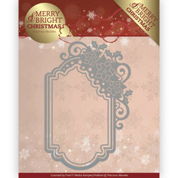 Precious Marieke Merry and Bright Christmas stanssi Poinsettia Ornament