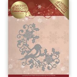 Precious Marieke Merry and Bright Christmas stanssi Bird Corner