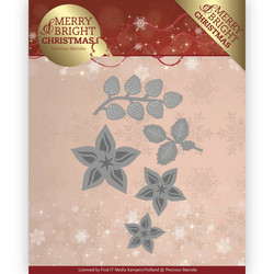 Precious Marieke Merry and Bright Christmas stanssisetti Christmas Florals
