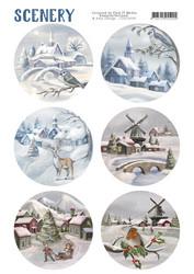 Card Deco Snow Villages -korttikuvat