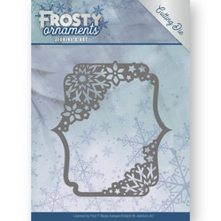 Jeanines Art Frosty Ornaments stanssi Rectangle Ornament