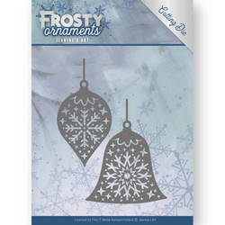 Jeanines Art Frosty Ornaments stanssisetti Christmas Baubles