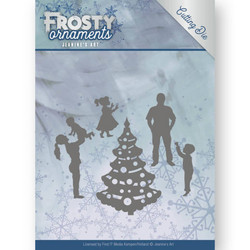 Jeanines Art Frosty Ornaments stanssisetti Happy Family