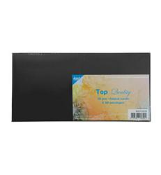 Joy! crafts korttipohjat ja kirjekuoret, 13.5 x 13.5, musta. 50 kpl