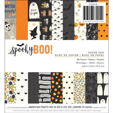 American Crafts paperipakkaus Spooky Boo