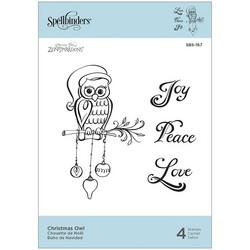 Spellbinders leimasinsetti Christmas Owl