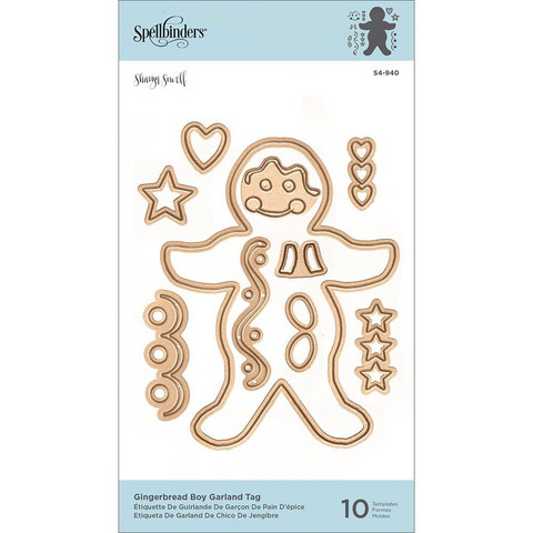 Spellbinders Gingerbread Boy Garland Tag -stanssisetti