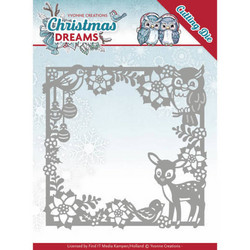 Yvonne Creations Christmas Dreams stanssi Christmas Animal Frame
