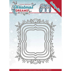Yvonne Creations Christmas Dreams stanssisetti Snowflake Rectangle