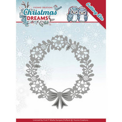 Yvonne Creations Christmas Dreams stanssi Poinsettia Wreath
