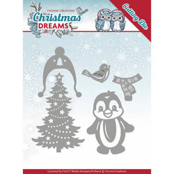 Yvonne Creations Christmas Dreams stanssisetti Christmas Penquin
