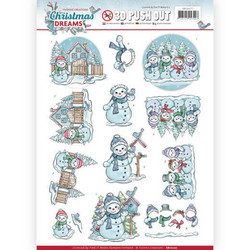 Yvonne Design Christmas Dreams 3D-kuvat Snowman