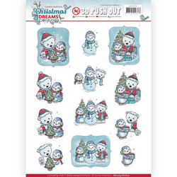 Yvonne Design Christmas Dreams 3D-kuvat Christmas Bears