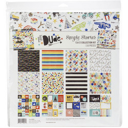 Simple Stories Lil' Dude Collection Kit -paperipakkaus