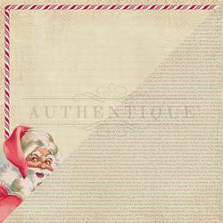 Authentique Jingle skräppipaperi Retro Santa