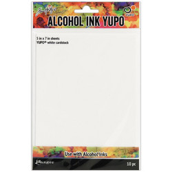 Tim Holtz Alcohol Ink White Yupo -paperi, muovipaperi, 5